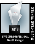 2013 Five Star Professional Wealth Manager, Multi-Year Winner